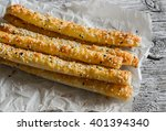 homemade cheese bread sticks on ... | Shutterstock . vector #401394340