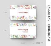 business card vector template...   Shutterstock .eps vector #401404474
