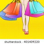 Let\'s Go Shopping. Vector...