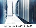 ranks of modern server... | Shutterstock . vector #401411458