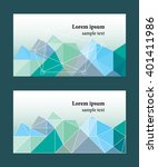 set of 2 business card template.... | Shutterstock .eps vector #401411986