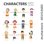 stock vector colorful  cartoon... | Shutterstock .eps vector #401414683