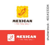 vector colorful mexican food... | Shutterstock .eps vector #401415334