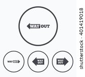 way out icons. left and right... | Shutterstock .eps vector #401419018