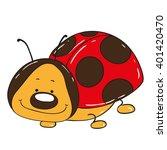 cute ladybug cartoon character   Shutterstock .eps vector #401420470