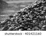 heap of coal. a place  where... | Shutterstock . vector #401421160