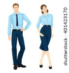 vector illustration of man and... | Shutterstock .eps vector #401423170