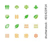herbs and grains icons | Shutterstock .eps vector #401423914