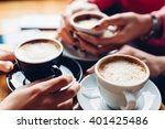 closeup of three girls with... | Shutterstock . vector #401425486