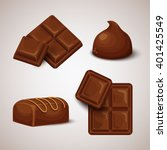 vector set of chocolate bars...   Shutterstock .eps vector #401425549