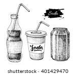 vector soda drawing. hand drawn ... | Shutterstock .eps vector #401429470