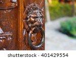 Traditional Door Knocker On A...