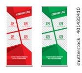 banner roll up design  business ... | Shutterstock .eps vector #401432410