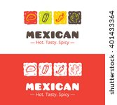 colorful mexican food logo.... | Shutterstock . vector #401433364