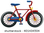 bicycle with red frame... | Shutterstock .eps vector #401434504