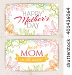 greeting cards happy mother's... | Shutterstock .eps vector #401436064