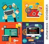 programming  development ... | Shutterstock .eps vector #401436814