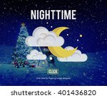 nighttime bright moon moonlight ... | Shutterstock . vector #401436820