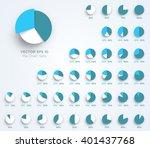 infographic vector 3d pie chart ... | Shutterstock .eps vector #401437768
