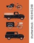 lovely set of vintage graphic... | Shutterstock .eps vector #401441248