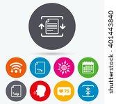 wifi  like counter and calendar ... | Shutterstock .eps vector #401443840