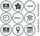 clock  wifi and stars icons....