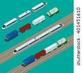 vector illustration. set train...   Shutterstock .eps vector #401451610