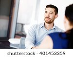 handsome businessman in office | Shutterstock . vector #401453359