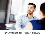 handsome businessman in office | Shutterstock . vector #401455609