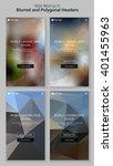 blurred polygonal mobile...