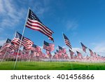 a field of hundreds of american ... | Shutterstock . vector #401456866