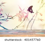 wood for product display with... | Shutterstock . vector #401457760
