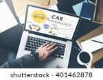 car insurance policies safety... | Shutterstock . vector #401462878