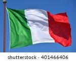 Italian flag fluttering in the...