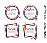 Vector Set Quote Frame With...