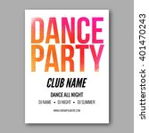 dance party poster template.... | Shutterstock .eps vector #401470243