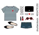 fashion illustration. summer... | Shutterstock .eps vector #401479150