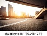 empty asphalt road near modern... | Shutterstock . vector #401484274
