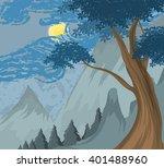 nature scene vector landscape...   Shutterstock .eps vector #401488960