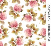 seamless floral pattern with... | Shutterstock . vector #401491930