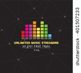 unlimited music streaming... | Shutterstock .eps vector #401507233