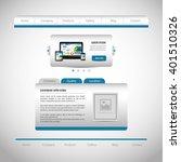 website design template  design  | Shutterstock .eps vector #401510326