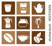 delicious coffee design  | Shutterstock .eps vector #401512606