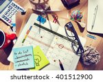 calendar planner organization... | Shutterstock . vector #401512900