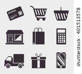 shopping online design  | Shutterstock .eps vector #401513578