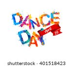 dance day. april 29. vector...