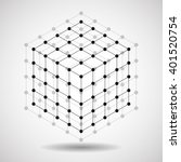 Cube Of Lines And Dots ...