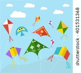 kites on the sky  in the air.... | Shutterstock .eps vector #401531368