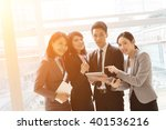 group of business people work... | Shutterstock . vector #401536216