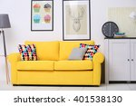 yellow sofa in the living room | Shutterstock . vector #401538130